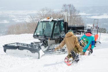 星野リゾート アルツ磐梯|スキー場の専用エリアでシャトル的にキャットスキーを楽しむ|福島県