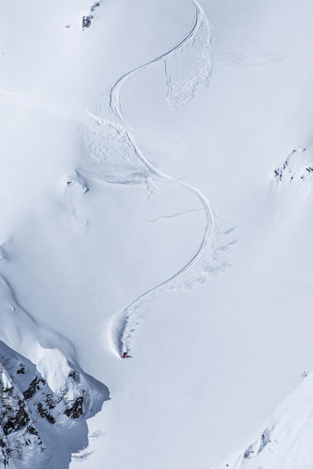 Skier/Tadahiro Yamaki Location/Hakuba、Nagano、JPN