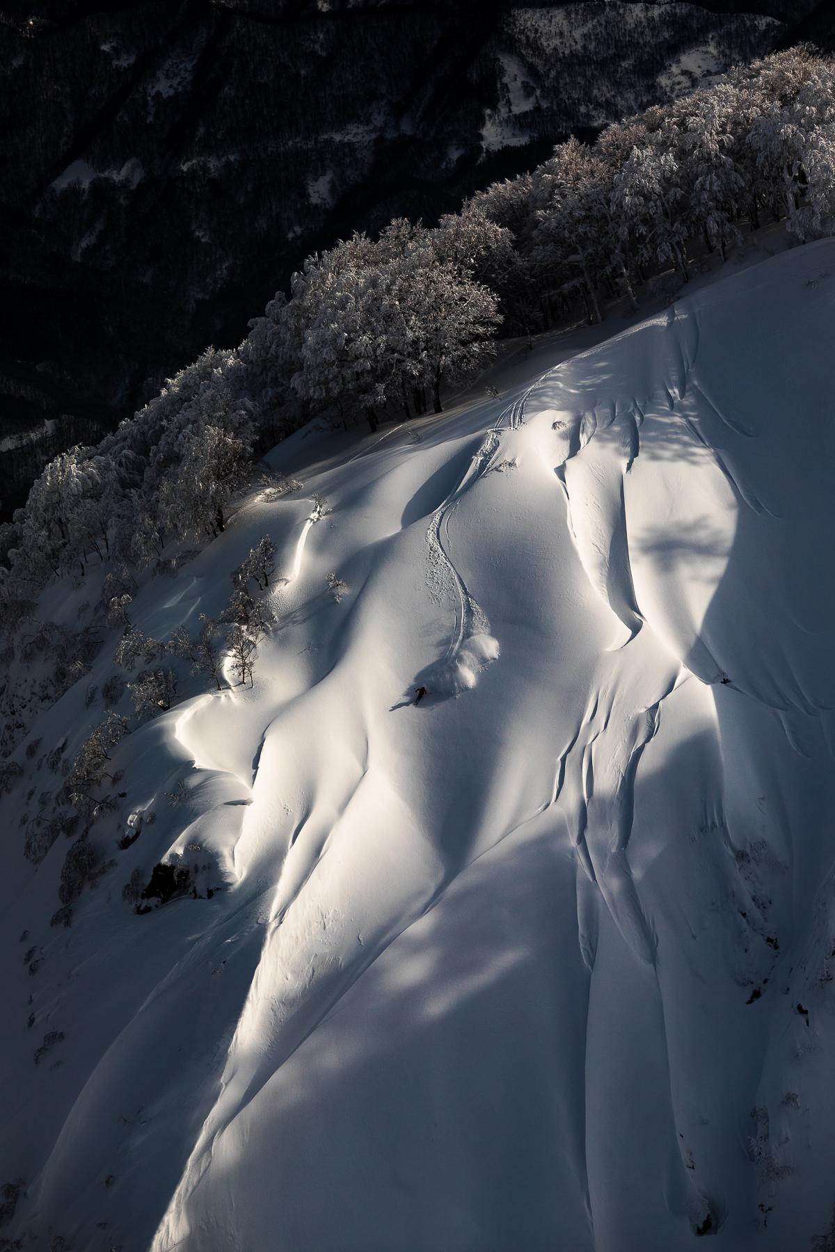 Skier/ Yu Sasaki Location/Hakuba、Nagano、JPN